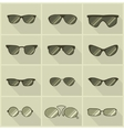 set of glasses in vintage style vector image