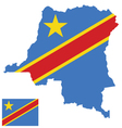 Democratic Republic of the Congo Flag vector image