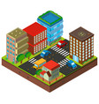 3d design for buildings in the city vector image