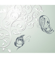 floral butterfly card vector image vector image