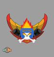 Sports shield emblem Boxing logo skull Logotype vector image