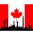 Industry and flag of Canada vector image
