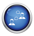 Chating businessmen icon vector image