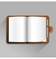 brown notebook vector image