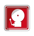 fire alarm isolated icon vector image