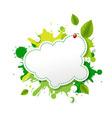 Green Eco Speech Bubble vector image