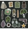 military stickers vector image