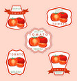 the theme tomato vector image