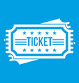 ticket icon white vector image
