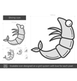 Shrimp line icon vector image