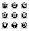 Glossy icon set 35 vector image vector image