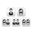 Hetero gay or lesbian wedding buttons set vector image vector image