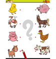 match elements education game vector image