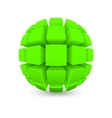 Divided green sphere vector image vector image