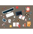 Office Desk Collection Of Utilities vector image