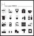 Airport Element Line Icon Set 2Mono graph pack vector image