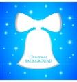 Christmas bell blueprint vector image