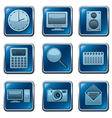 Computer applications buttons vector image