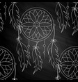 hand to draw a seamless pattern dreamcatcher vector image