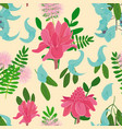 seamless pattern with ginger flowers vector image