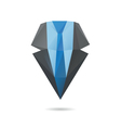 Suit with tie abstract vector image