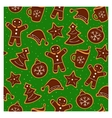 Christmas cookies seamless pattern vector image