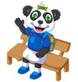 cute panda cartoon sitting on a chair vector image