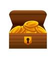 game Treasure chest icon vector image