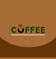 flat icon design collection coffee emblem vector image