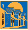 Town house colorful vector image