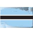 botswana national flag vector image vector image