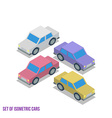 Set of Isometric Cars vector image