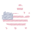 United states of America map words vector image