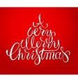 Hand drawn holiday lettering design christmas vector