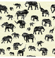 Elephants silhouettes Background vector image vector image