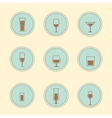 alcohol icons vector image