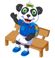 cute panda cartoon sitting on a chair vector image