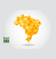 geometric polygonal style map of brazil low poly vector image