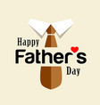 happy fathers day brown necktie design vector image