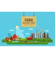 Natural food Farm and city vector image