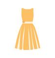 orange summer dress vector image