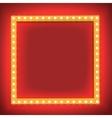 Retro shining frame Light bulb vector image