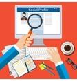 Search Social Profile vector image