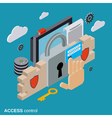 Computer security data protection access control vector image