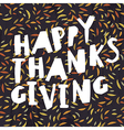Happy Thanksgiving greeting card Abstract autumn vector image