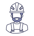 blue contour of half body of faceless bearded male vector image
