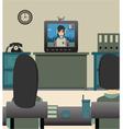 Kids watching TV vector image