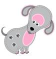 cute cartoon isolated fabric animal dog vector image vector image
