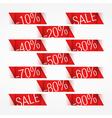 Discounts vector image vector image