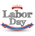 Labor day tag vector image
